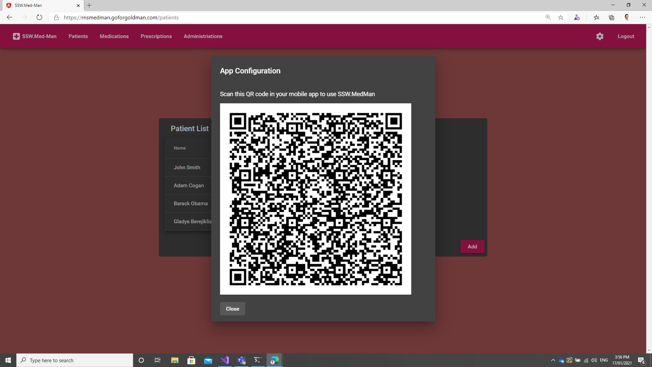 Automagic config with a QR code